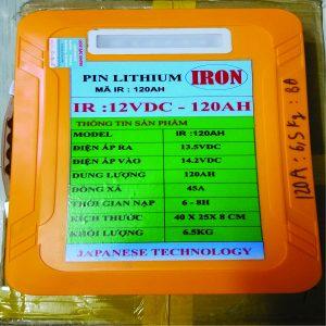 PIN LITHIUM 12V/120AH