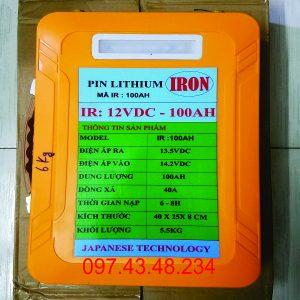 PIN LITHIUM 12V/100AH